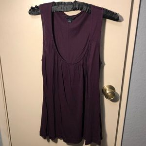 Banana Republic- Maroon purple top- size Small